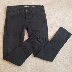 Black 7 for all mankind skinny/straight leg jeans
